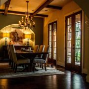 Pleasant Forest European Style Floor Plan Dinning Room